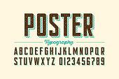 Retro style vintage font