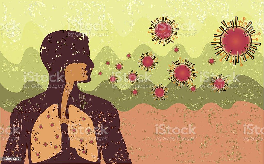 Retro Style Virus Infection royalty-free stock vector art