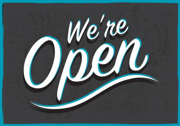 Retro styled Open Sign Retro styled Open Sign open sign stock illustrations