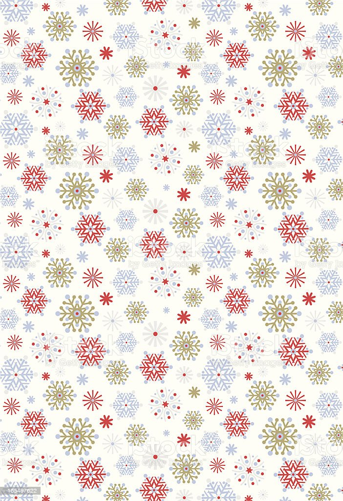 Retro Styled Snowflake Pattern Repeat royalty-free stock vector art