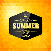 Retro styled summer calligraphic design card