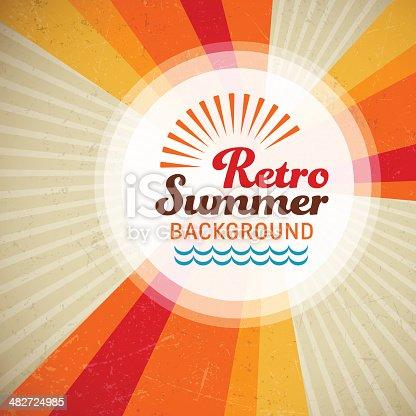 istock Retro Summer Background 482724985
