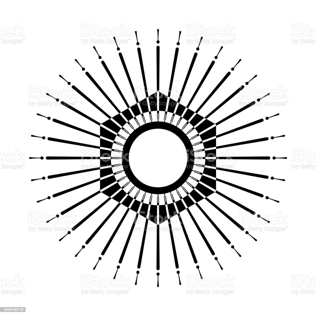 retro sun burst shape stock vector art more images of abstract rh istockphoto com sunburst vector in ai sunburst vector in ai