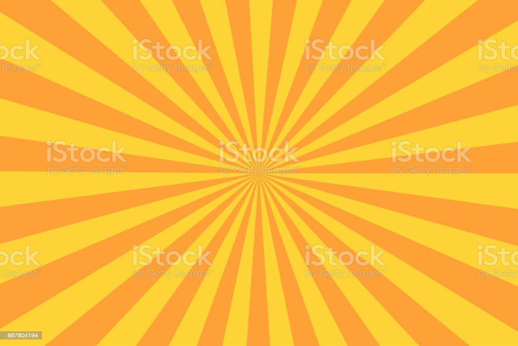Retro sunburst ray in vintage style. Abstract comic book background royalty-free retro sunburst ray in vintage style abstract comic book background stock illustration - download image now