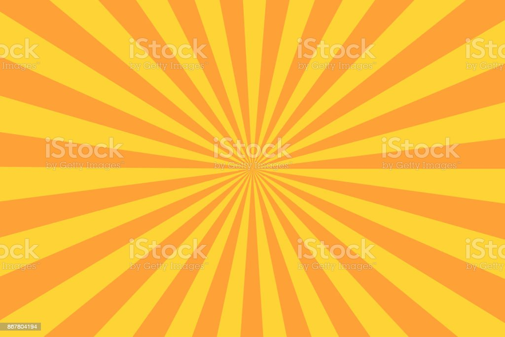Retro sunburst ray in vintage style. Abstract comic book background - ilustração de arte vetorial