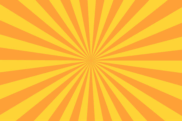 Retro sunburst ray in vintage style. Abstract comic book background vector art illustration