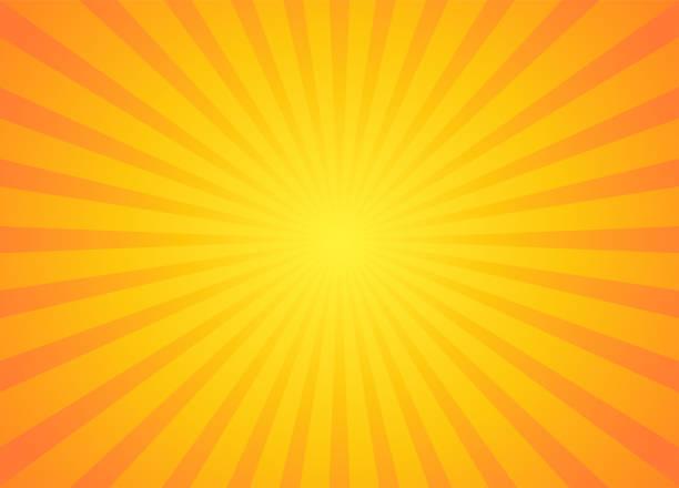 ilustrações, clipart, desenhos animados e ícones de raio de sol retrô em estilo vintage. - amarelo