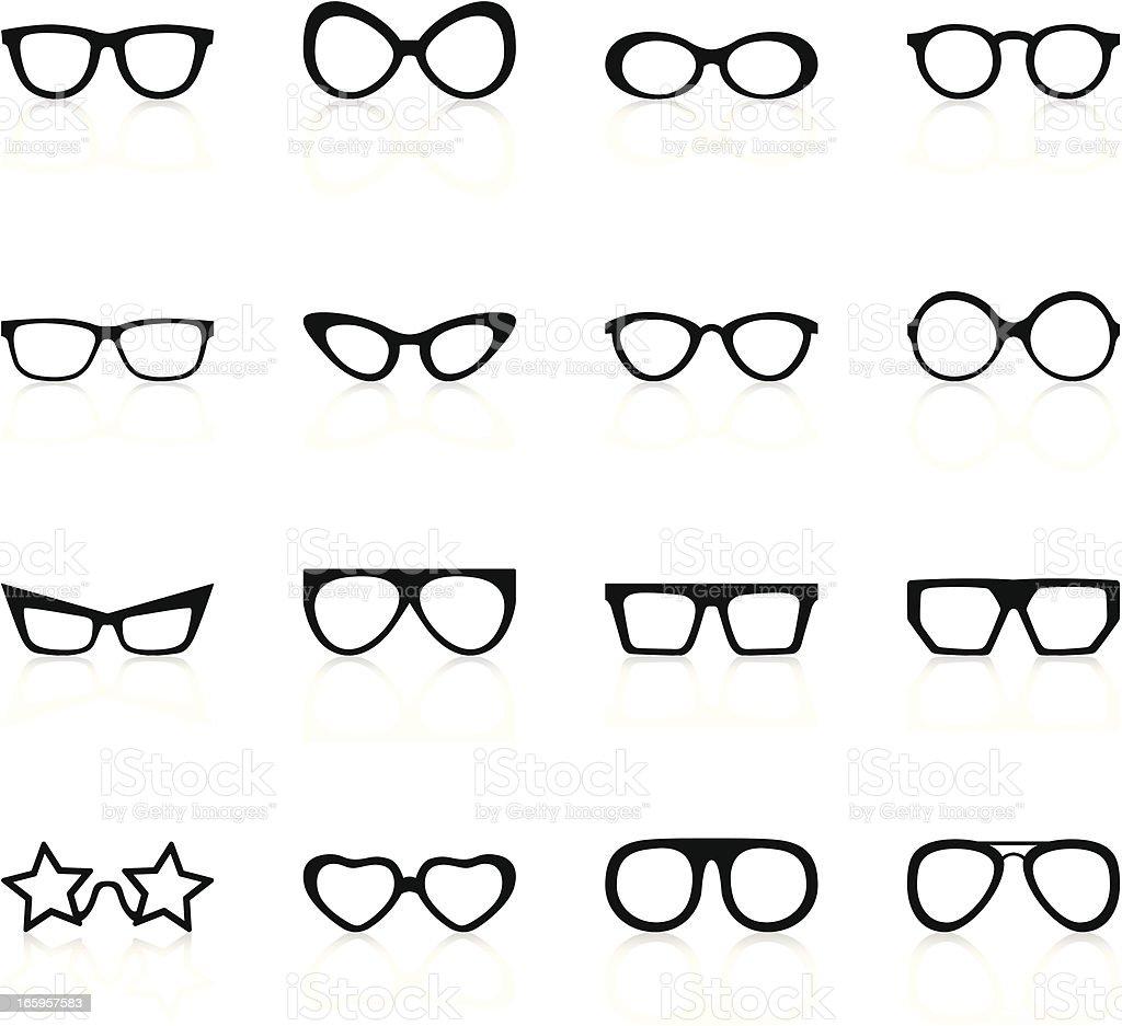 Retro Sunglasses - Black Series vector art illustration