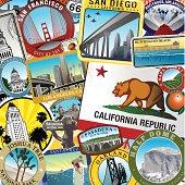 Retro Super California Collage