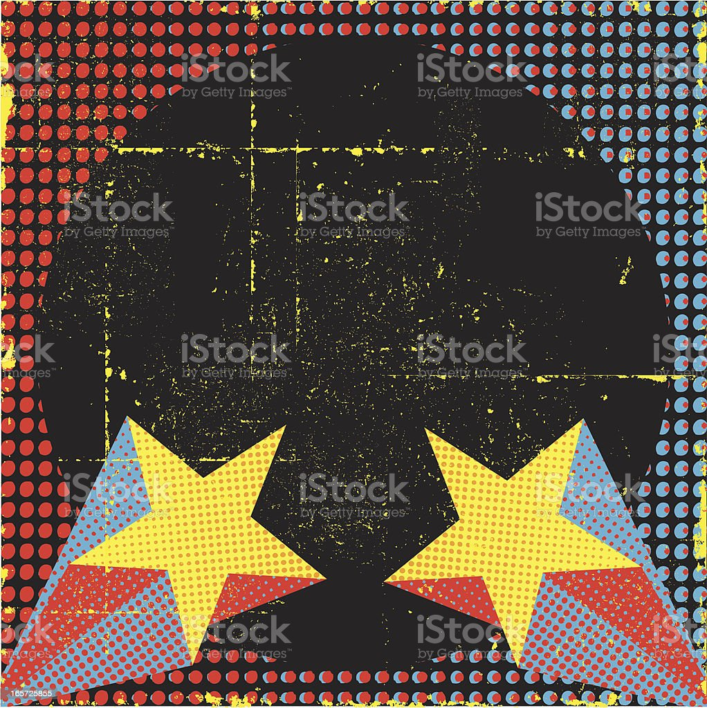 Retro Superstar Background vector art illustration