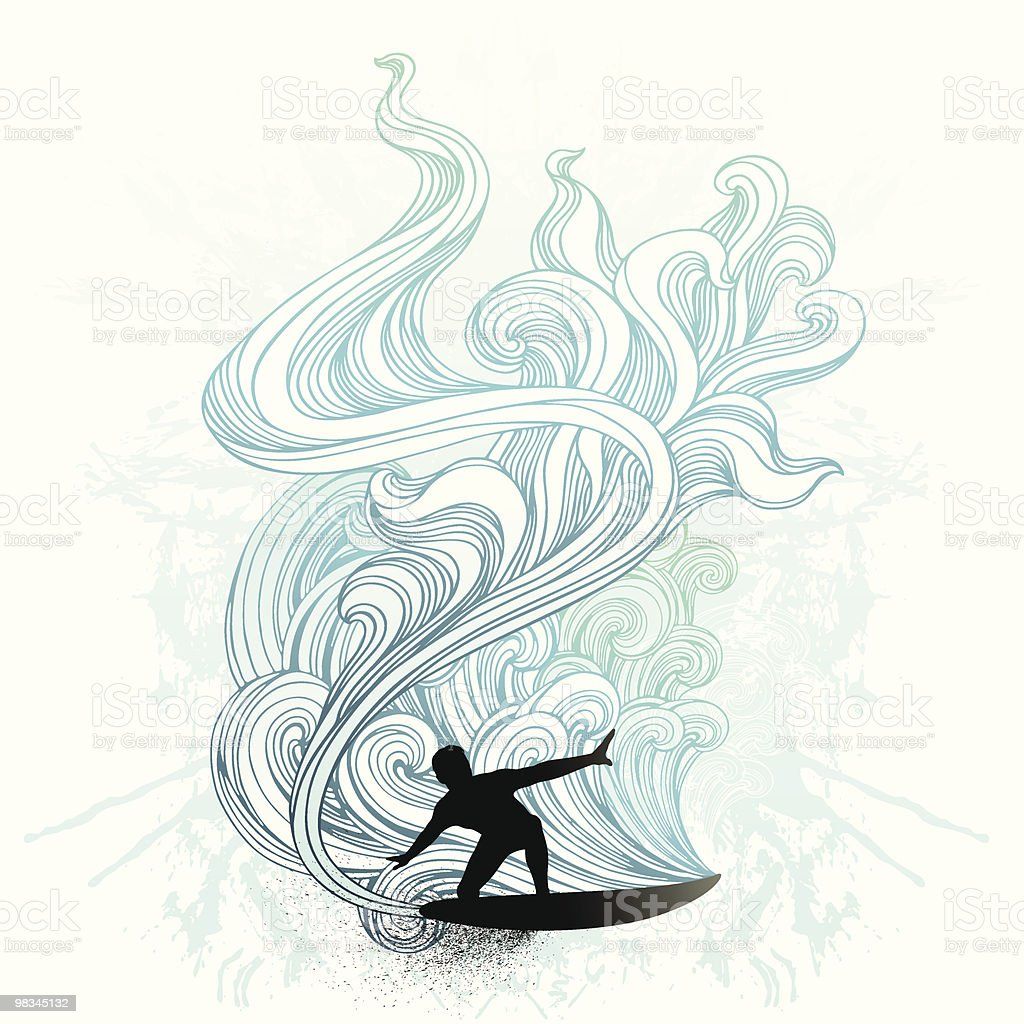 Retro surf royalty-free retro surf stock vector art & more images of balance