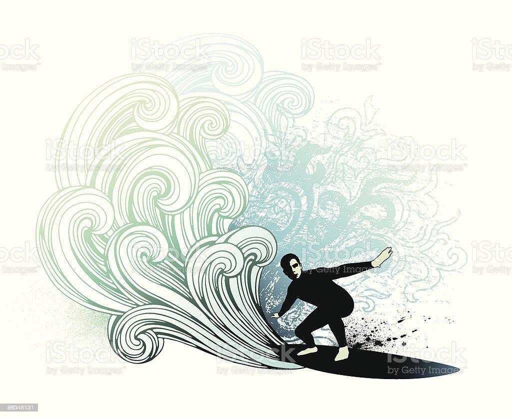 Retro surfer royalty-free retro surfer stock vector art & more images of balance