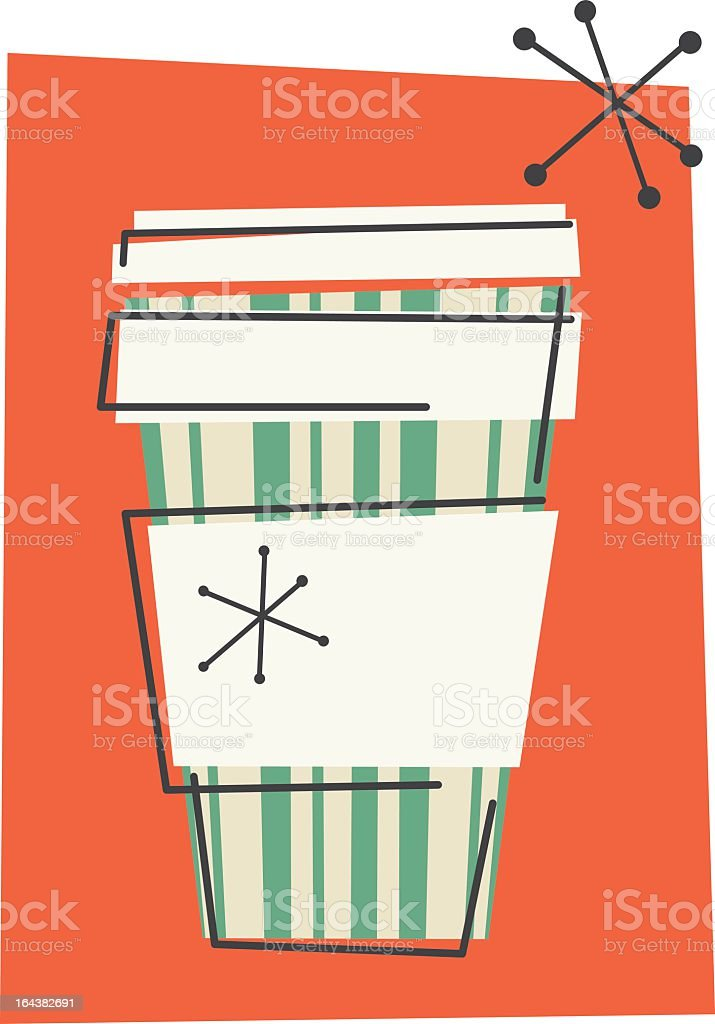 Retro Take-Out Coffee Cup royalty-free stock vector art