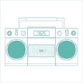 retro tape recorder for audio cassettes