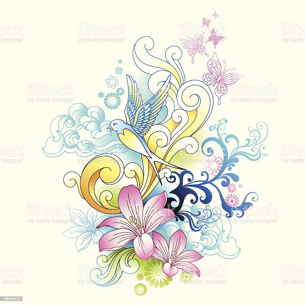 Retro Tattoo royalty-free retro tattoo stock vector art & more images of abstract