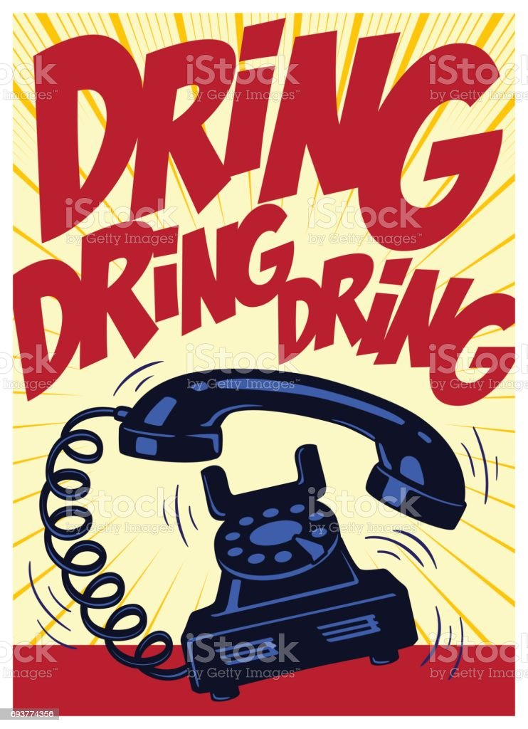 Retro telephone ringing vintage pop art comic book vector illustration royalty-free retro telephone ringing vintage pop art comic book vector illustration stock illustration - download image now