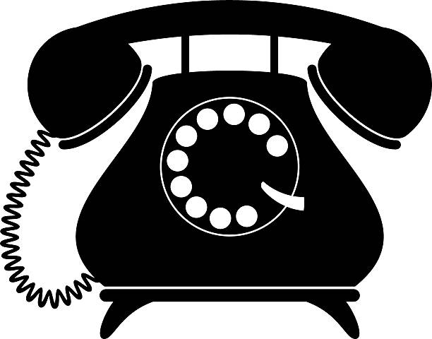 Best Cartoon Of A Rotary Dial Telephone Illustrations ...