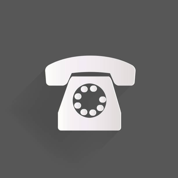 Retro telephone web icon vector art illustration