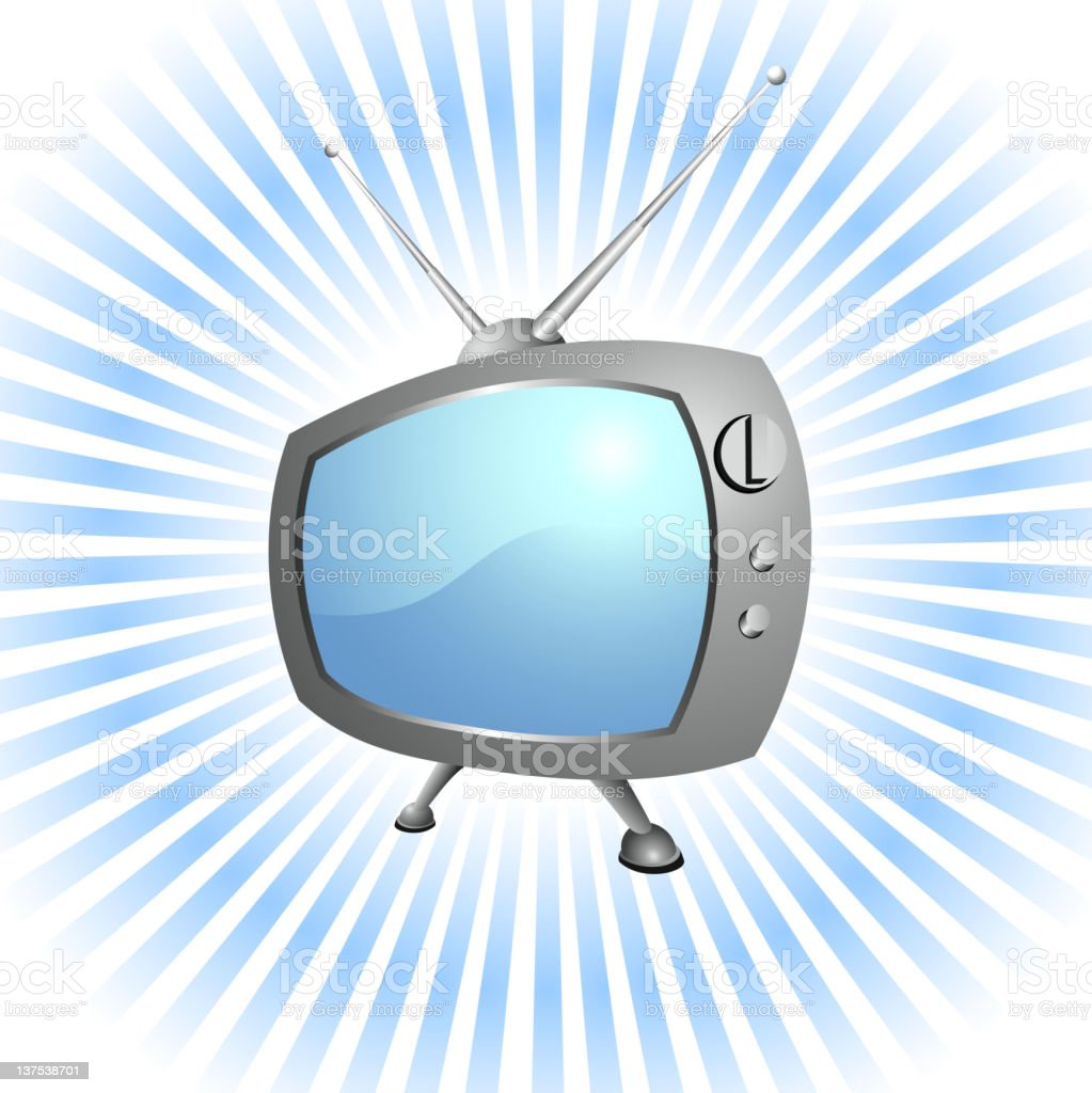 Retro Television set royalty-free vector Background with glow effect royalty-free stock vector art