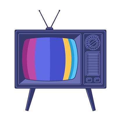 Retro Television TV Set