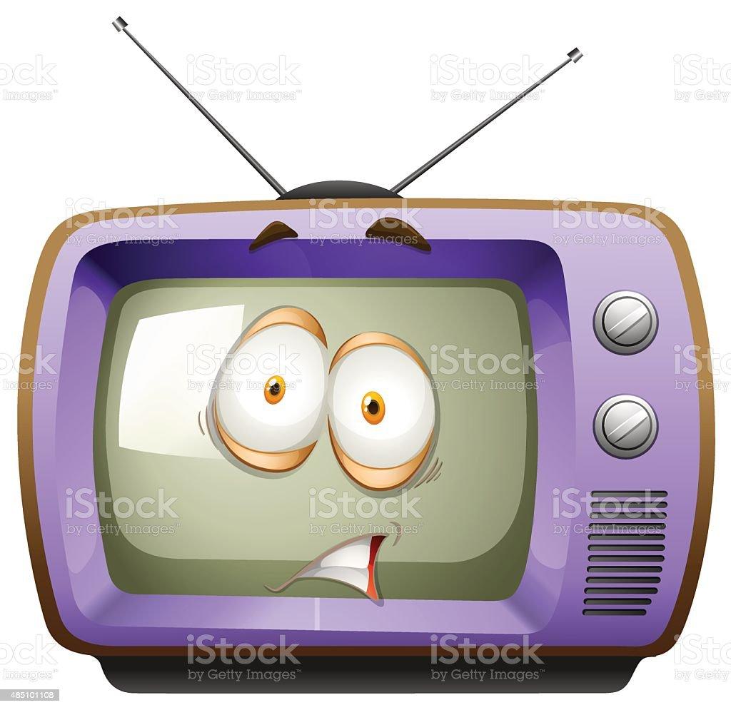レトロなテレビ顔 のイラスト素材 485101108 | istock