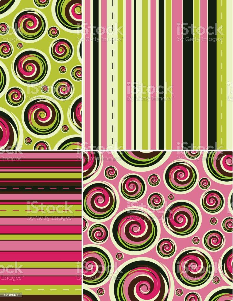 retro textile royalty-free stock vector art