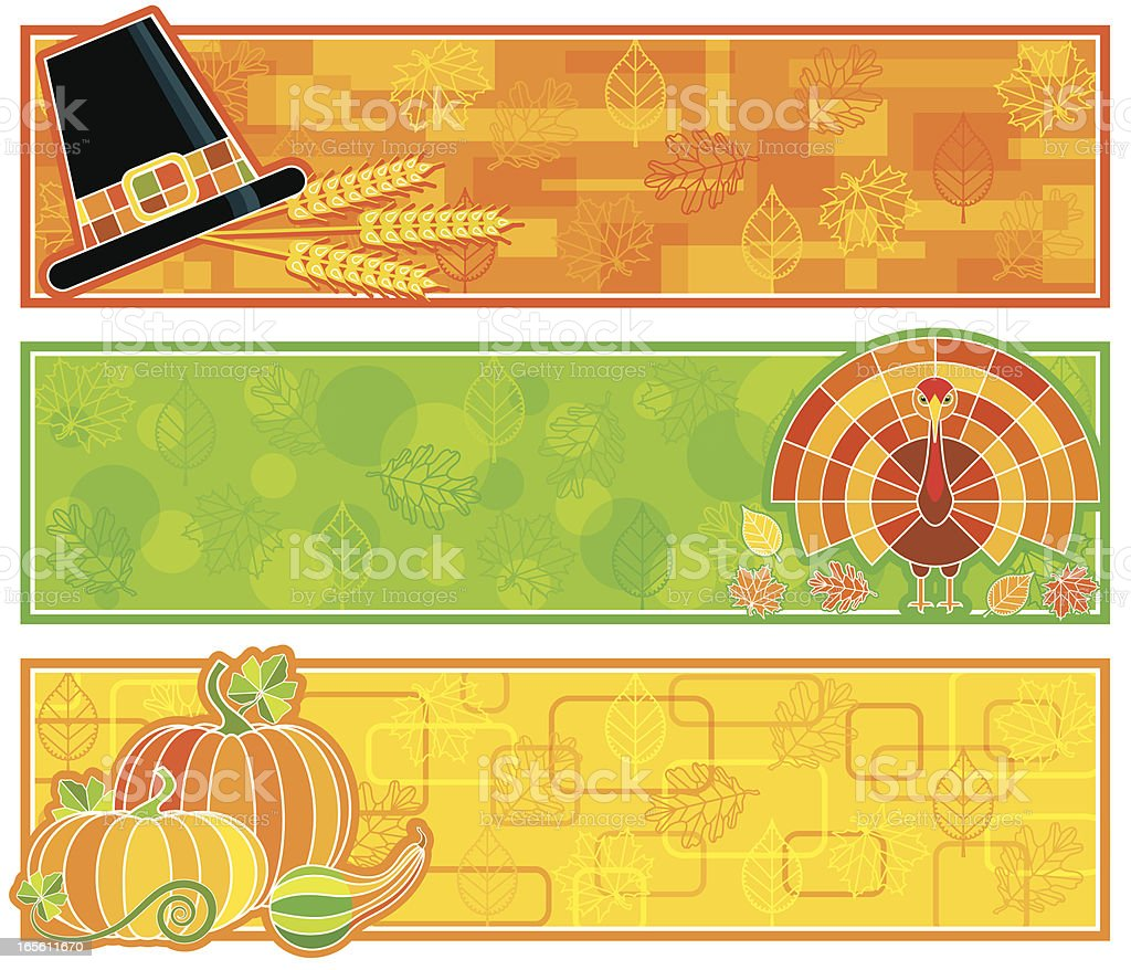 Retro Thanksgiving Labels royalty-free stock vector art