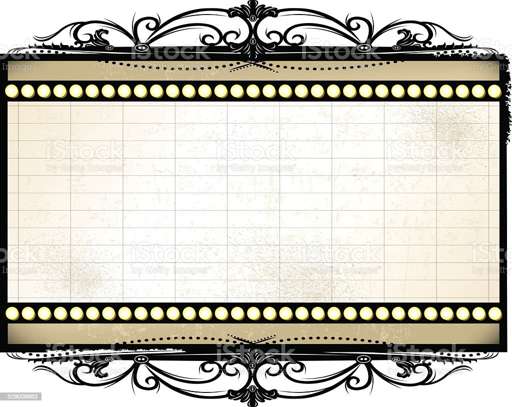 royalty free marquee frame clip art vector images illustrations rh istockphoto com movie marquee clipart black and white movie theater marquee clipart free
