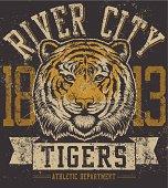 Retro Tiger Mascot Design