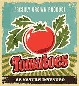 Retro tomato vintage advertising poster - Crate label