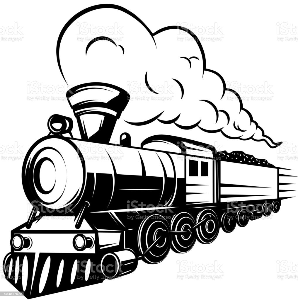 royalty free steam train clip art vector images illustrations rh istockphoto com steam engine train clipart steam engine train clipart