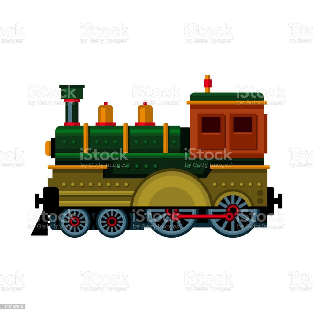 Ilustración de Retro Tren Icono De Locomotora De Vapor Vector De De ...