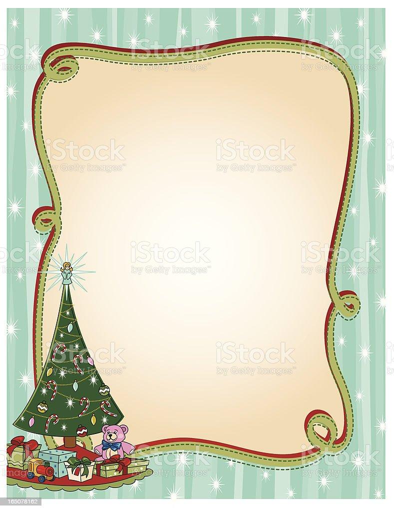 Retro Tree Frame royalty-free stock vector art