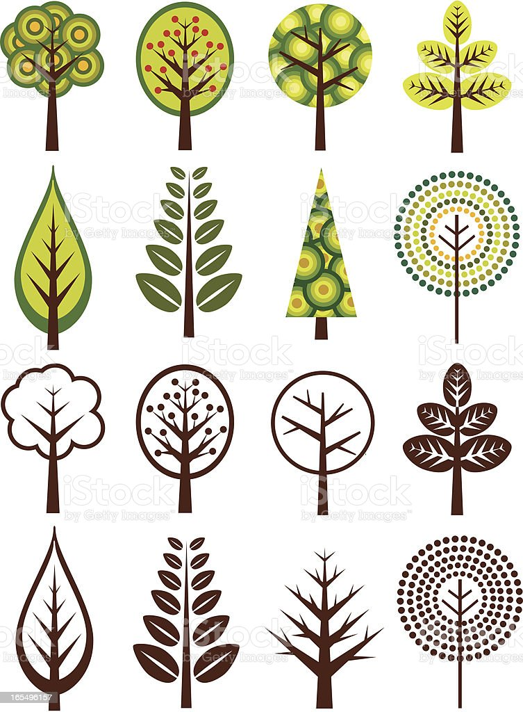 Retro Trees royalty-free retro trees stock vector art & more images of 1960-1969