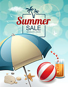 drawn of vector retro style summer sign. This file of transparent and created by illustrator CS6.