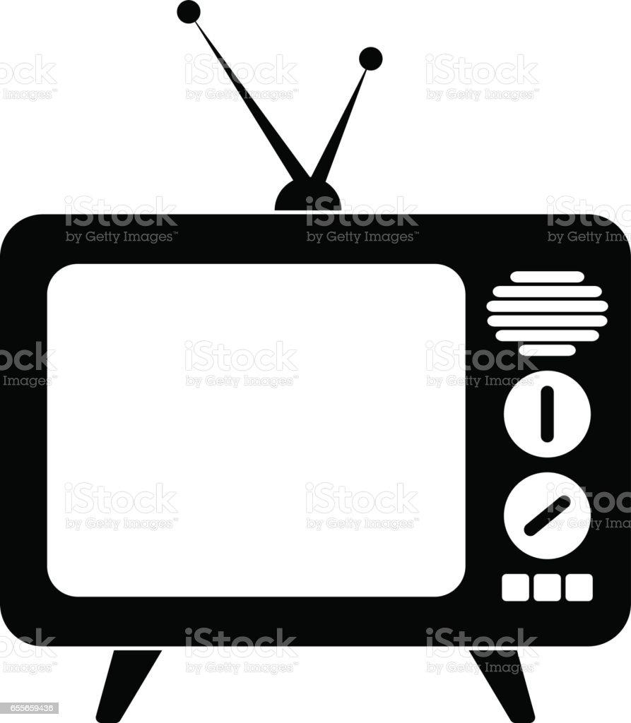 Retro Tv Icon Stock Illustration - Download Image Now - iStock