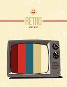Retro tv movie poster design