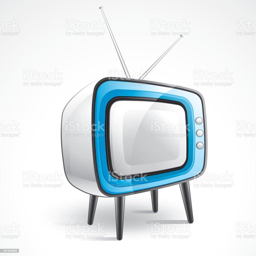 Retro  TV royalty-free retro tv stock vector art & more images of antenna - aerial