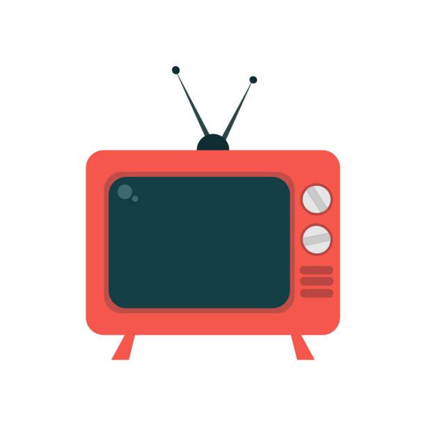 retro tv. vector - телевизионная индустрия stock illustrations