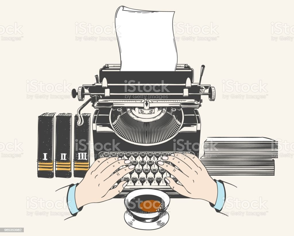 Retro type writer machine royalty-free retro type writer machine stock vector art & more images of ancient