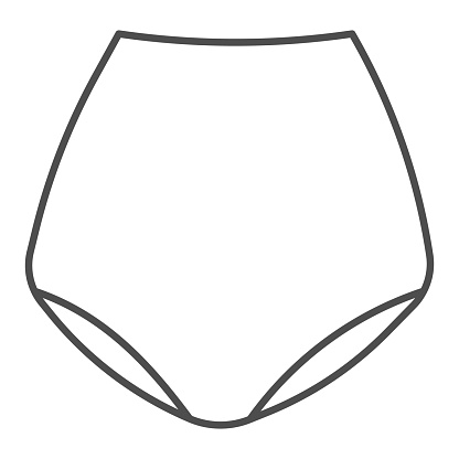 Retro underpants thin line icon, clothes concept, underwear sign on white background, underpants icon in outline style for mobile concept and web design. Vector graphics.