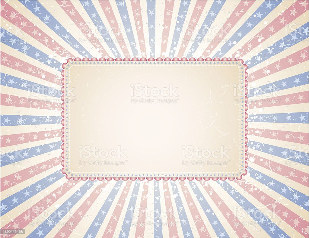 retro USA antique background royalty-free stock vector art