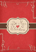 Valentine's day card. EPS10 vector illustration, global colors, easy to modify.