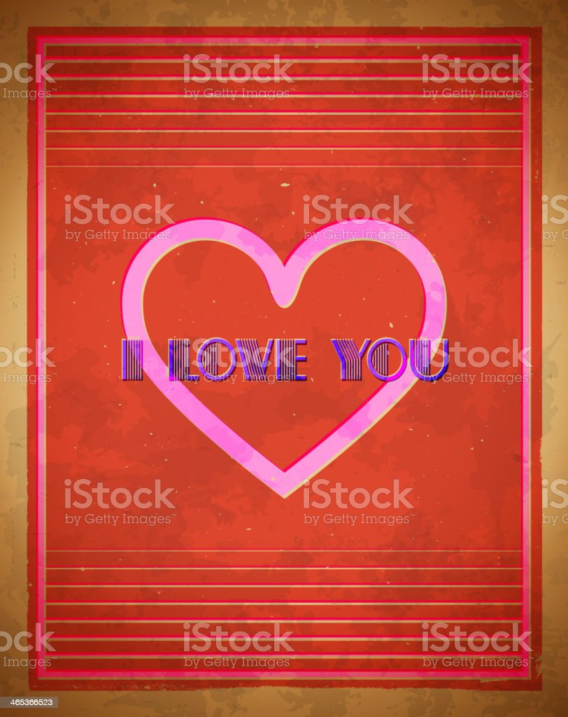 Retro Valentine's Day card royalty-free stock vector art