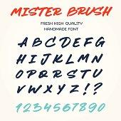 Retro vector alphabet handwritten with brush pen