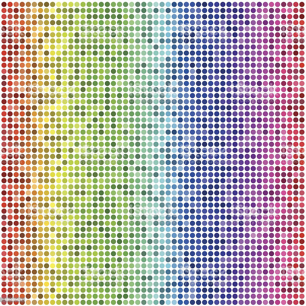 Retro Vector Dots, Colorful Seamless Background vector art illustration