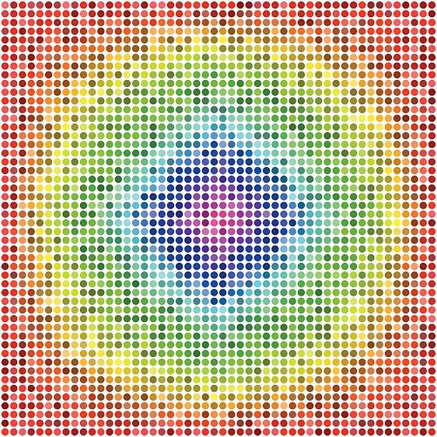 Retro Vector Dots vector art illustration