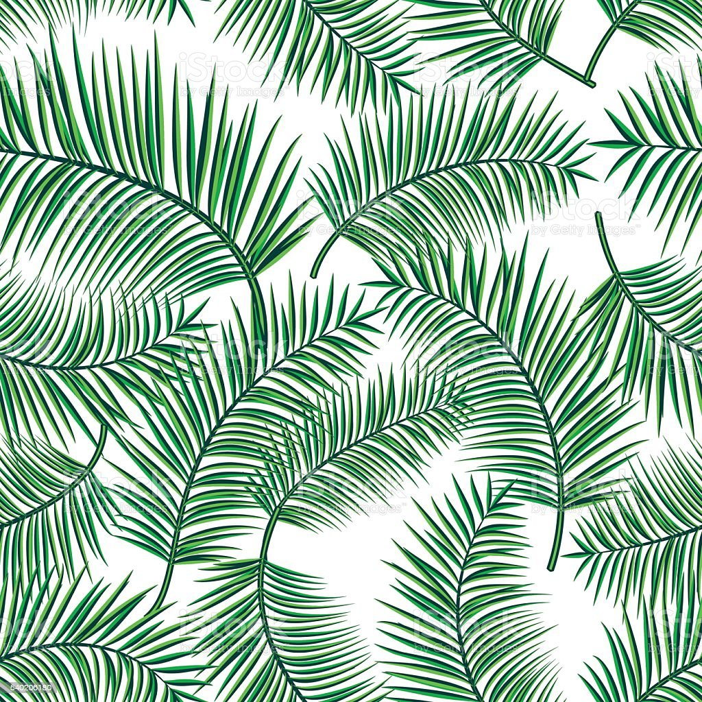 Retro vector illustration of exotic tropical seamless pattern with cartoon vector art illustration