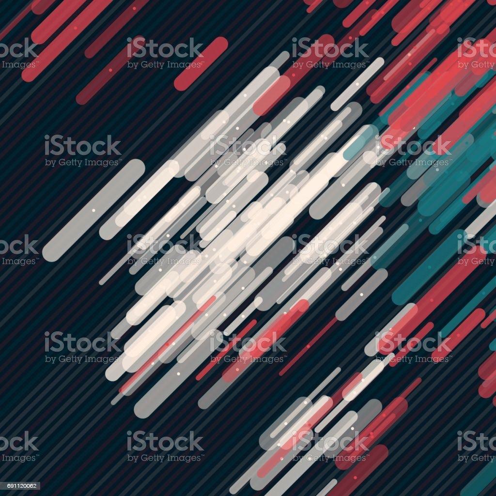 Retro Vector Rounded Rectangles Pattern vector art illustration