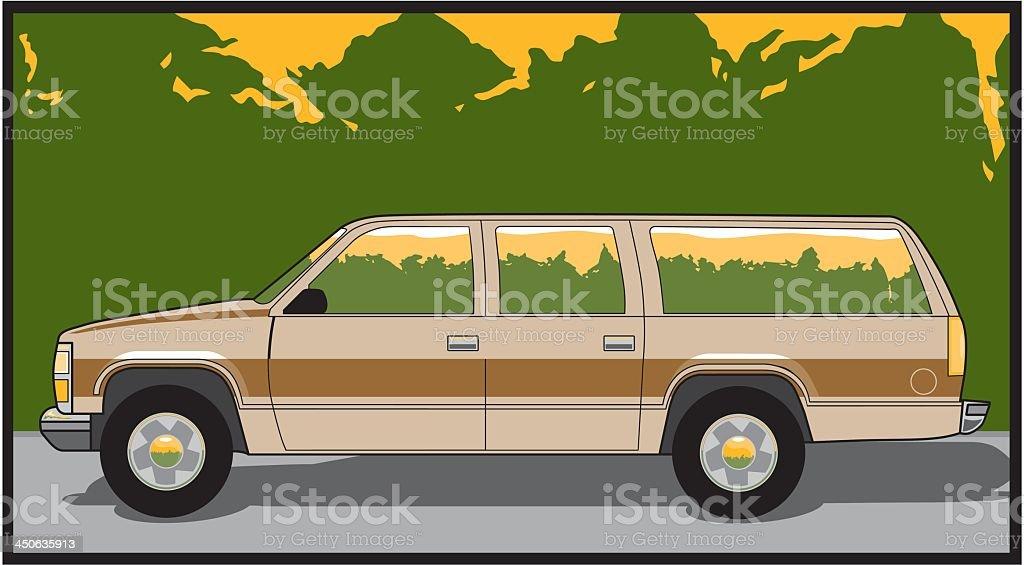 Retro Vehicle vector art illustration